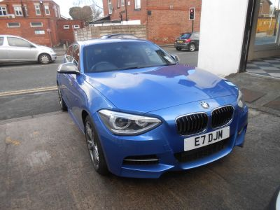BMW 1 Series 3.0 M135i M Performance 5dr Step Auto Hatchback Petrol Estrol BlueBMW 1 Series 3.0 M135i M Performance 5dr Step Auto Hatchback Petrol Estrol Blue at Motorhouse Cheshire Stockport