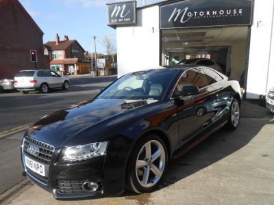 Audi A5 2.0 TDI S Line 2dr [Start Stop] Coupe Diesel BlackAudi A5 2.0 TDI S Line 2dr [Start Stop] Coupe Diesel Black at Motorhouse Cheshire Stockport