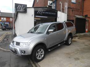 Mitsubishi L200 2.5 Double Cab DI-D Barbarian 4WD Auto 176Bhp Pick Up Diesel Silver at Motorhouse Cheshire Stockport
