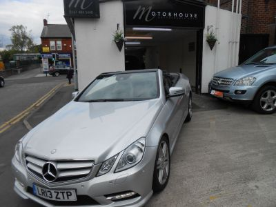 Mercedes-Benz E Class 2.1 E250 CDI BlueEFFICIENCY Sport 2dr Tip Auto Convertible Diesel SilverMercedes-Benz E Class 2.1 E250 CDI BlueEFFICIENCY Sport 2dr Tip Auto Convertible Diesel Silver at Motorhouse Cheshire Stockport
