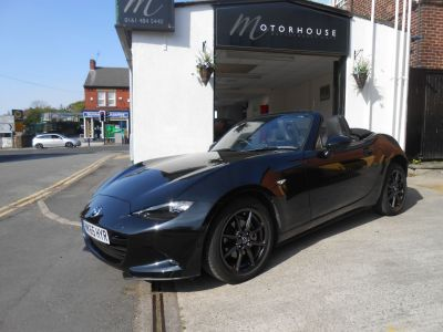 Mazda MX-5 1.5 Sport Nav 2dr Convertible Petrol BlackMazda MX-5 1.5 Sport Nav 2dr Convertible Petrol Black at Motorhouse Cheshire Stockport
