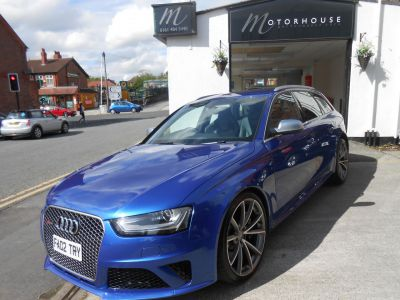 Audi RS4 4.2 FSI Quattro 5dr S Tronic Estate Petrol BlueAudi RS4 4.2 FSI Quattro 5dr S Tronic Estate Petrol Blue at Motorhouse Cheshire Stockport