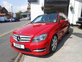 Mercedes-Benz C Class 2.1 C250 CDI BlueEFFICIENCY Sport Ed 125 4dr Auto Saloon Diesel Red at Motorhouse Cheshire Stockport