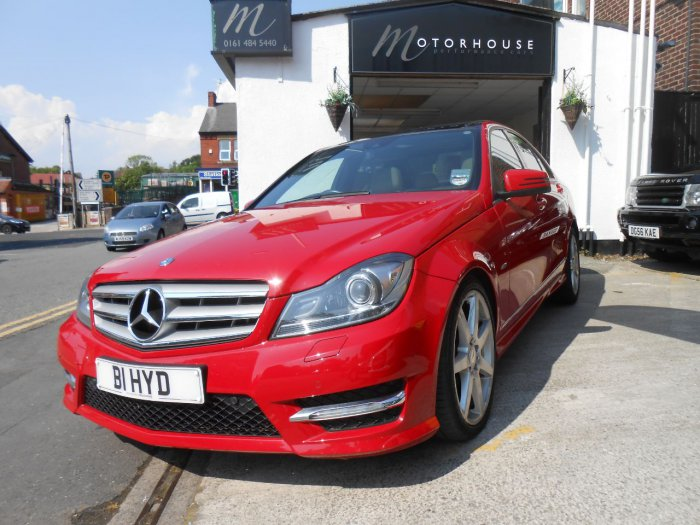 Mercedes-Benz C Class 2.1 C250 CDI BlueEFFICIENCY Sport Ed 125 4dr Auto Saloon Diesel Red