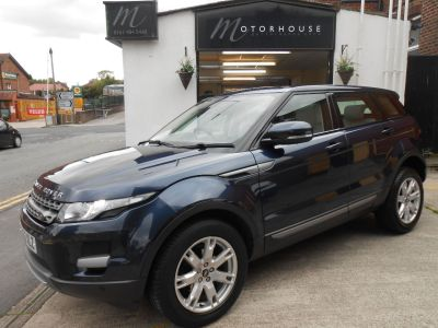 Land Rover Range Rover Evoque 2.2 SD4 Pure 5dr [Tech Pack] Estate Diesel BlueLand Rover Range Rover Evoque 2.2 SD4 Pure 5dr [Tech Pack] Estate Diesel Blue at Motorhouse Cheshire Stockport