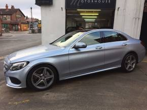 Mercedes-Benz C Class 2.1 C220d AMG Line Premium Plus 4dr Auto Saloon Diesel Silver at Motorhouse Cheshire Stockport