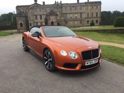 Bentley Continental GTC 4.0 V8 S 2dr Auto Convertible Petrol OrangeBentley Continental GTC 4.0 V8 S 2dr Auto Convertible Petrol Orange at Motorhouse Cheshire Stockport
