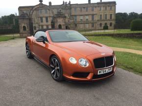Bentley Continental GTC 4.0 V8 S 2dr Auto Convertible Petrol Orange at Motorhouse Cheshire Stockport