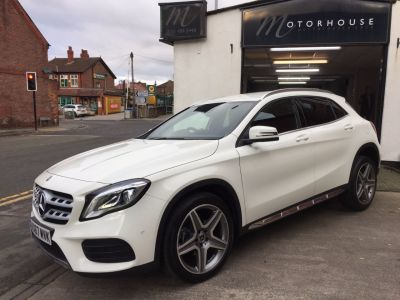 Mercedes-Benz Gla Class 2.1 GLA 200d AMG Line Premium 5dr Auto Estate Diesel WhiteMercedes-Benz Gla Class 2.1 GLA 200d AMG Line Premium 5dr Auto Estate Diesel White at Motorhouse Cheshire Stockport