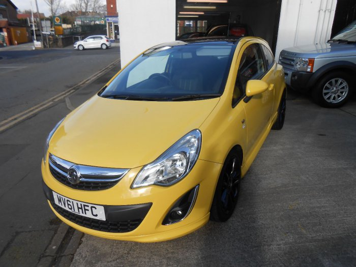 Vauxhall Corsa 1.2i 16V Limited Edition 3dr Hatchback Petrol Yellow