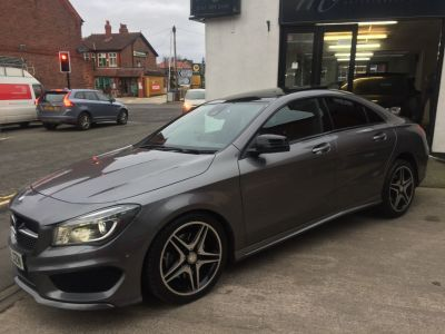 Mercedes-Benz Cla Class 2.0 CLA 250 AMG Sport 4Matic 4dr Tip Auto Saloon Petrol GreyMercedes-Benz Cla Class 2.0 CLA 250 AMG Sport 4Matic 4dr Tip Auto Saloon Petrol Grey at Motorhouse Cheshire Stockport