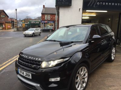 Land Rover Range Rover Evoque 2.2 SD4 Dynamic 5dr Auto [9] Estate Diesel BlackLand Rover Range Rover Evoque 2.2 SD4 Dynamic 5dr Auto [9] Estate Diesel Black at Motorhouse Cheshire Stockport