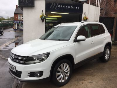 Volkswagen Tiguan 2.0 TDi BlueMotion Tech Match 5dr DSG Estate Diesel WhiteVolkswagen Tiguan 2.0 TDi BlueMotion Tech Match 5dr DSG Estate Diesel White at Motorhouse Cheshire Stockport