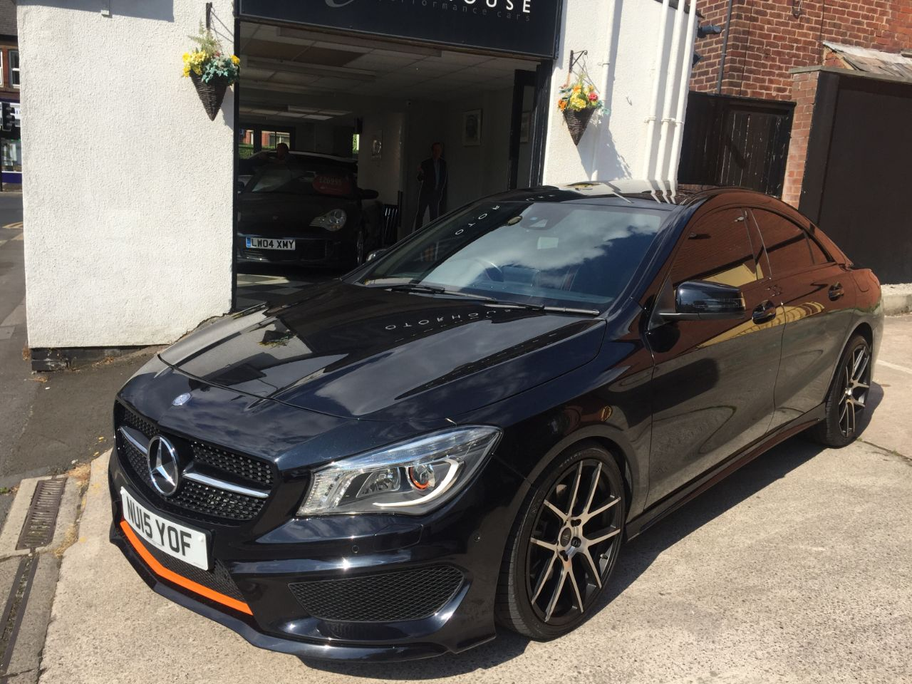 Mercedes-Benz Cla Class 2.1 CLA 220 CDI OrangeArt 4Matic 4dr Tip Auto Saloon Diesel Black at Motorhouse Cheshire Stockport
