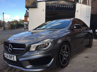 Mercedes-Benz Cla Class 1.6 CLA 180 AMG Sport 4dr Tip Auto Saloon Petrol GreyMercedes-Benz Cla Class 1.6 CLA 180 AMG Sport 4dr Tip Auto Saloon Petrol Grey at Motorhouse Cheshire Stockport