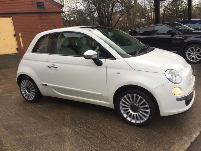 Fiat 500 1.4 Lounge 3dr [Start Stop] Hatchback Petrol White