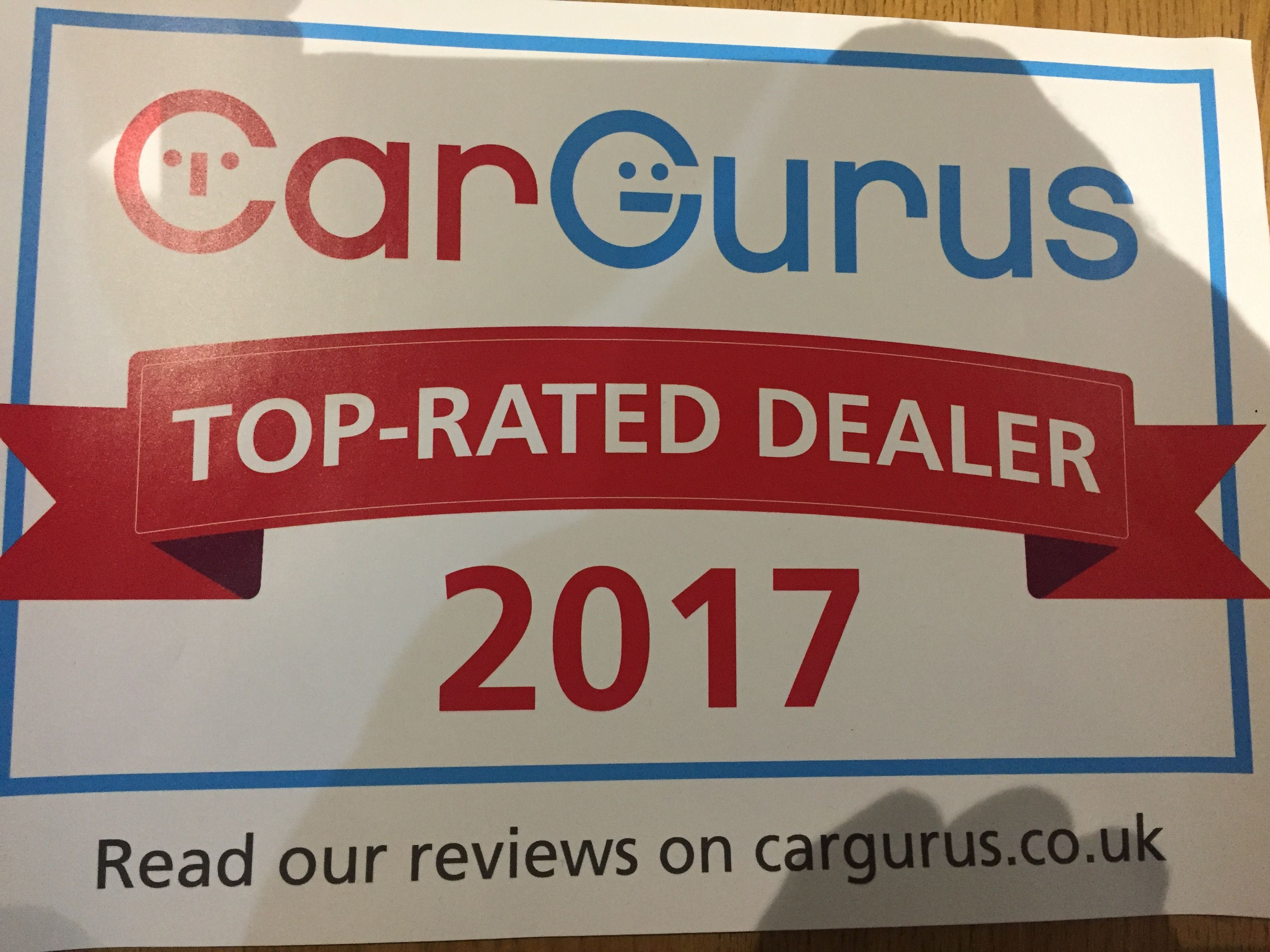 2017 TOP RATED DEALER CARGURUS