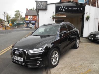 Audi Q3 2.0 TDI [177] Quattro S Line 5dr S Tronic Estate Diesel BlackAudi Q3 2.0 TDI [177] Quattro S Line 5dr S Tronic Estate Diesel Black at Motorhouse Cheshire Stockport