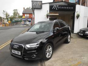 Audi Q3 2.0 TDI [177] Quattro S Line 5dr S Tronic Estate Diesel Black at Motorhouse Cheshire Stockport