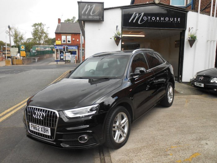 used audi q3 2 0 tdi 177 quattro s line 5dr s tronic for sale in stockport cheshire. Black Bedroom Furniture Sets. Home Design Ideas