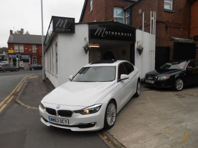 BMW 3 Series 2.0 320d xDrive Luxury 4dr Step Auto Saloon Diesel WhiteBMW 3 Series 2.0 320d xDrive Luxury 4dr Step Auto Saloon Diesel White at Motorhouse Cheshire Stockport