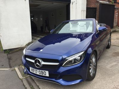 Mercedes-Benz C Class 2.1 C220d Sport 2dr Auto Convertible Diesel BlueMercedes-Benz C Class 2.1 C220d Sport 2dr Auto Convertible Diesel Blue at Motorhouse Cheshire Stockport