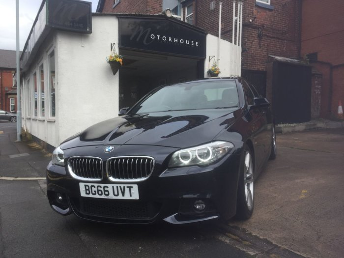 BMW 5 Series 2.0 520d [190] M Sport 4dr Step Auto Saloon Diesel Black