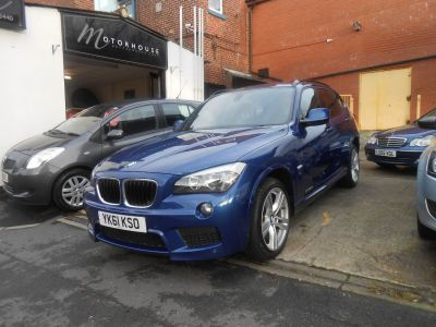 BMW X1 2.0 xDrive 20d M Sport 5dr Step Auto Estate Diesel BlueBMW X1 2.0 xDrive 20d M Sport 5dr Step Auto Estate Diesel Blue at Motorhouse Cheshire Stockport
