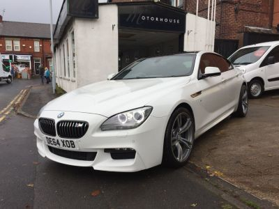 BMW 6 Series 3.0 640d M Sport 4dr Auto Coupe Diesel WhiteBMW 6 Series 3.0 640d M Sport 4dr Auto Coupe Diesel White at Motorhouse Cheshire Stockport